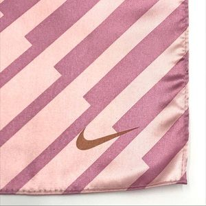 Nike Pink Square Scarf Striped Sporty
